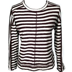 Madewell slub striped pullover size S/XS
